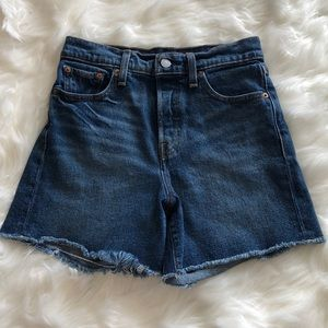 Levi's Cutoff Button Fly High Waist Shorts